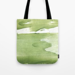 Green khaki clouded wash drawing texture Tote Bag