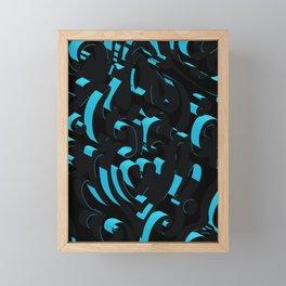 3D Abstract Ornamental Background Framed Mini Art Print
