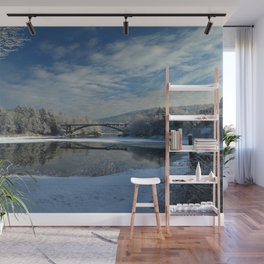 River View - Finally Looks Like Winter Wall Mural