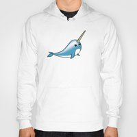 narwhal Hoodies featuring narwhal by bunnyandbird