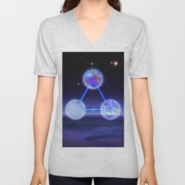 CSETI Logo in 3D Unisex V-Neck