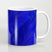 renaissance Mugs featuring Renaissance Blue by Charma Rose