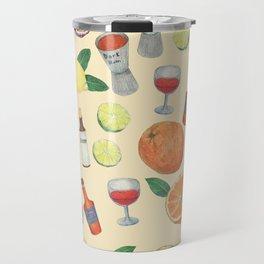 cocktail recipe pattern _ zombie Travel Mug