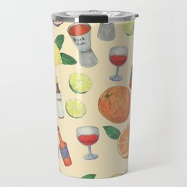 cocktail recipe pattern _ zombie Travel Mug