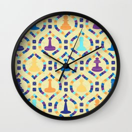 Game Board - Cream Wall Clock