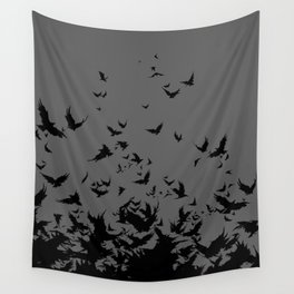 An Unkindness of Ravens (Grey) Wall Tapestry
