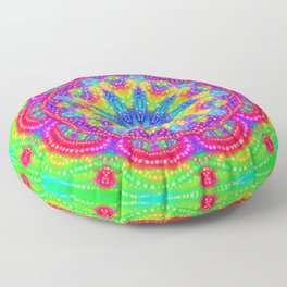 Amazing Day Neon Mandala Floor Pillow
