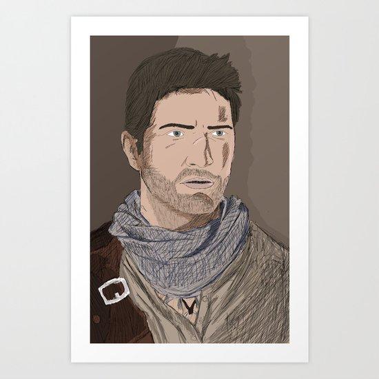 Nathan Drake (Uncharted) Art Print