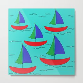 Five Sails Metal Print