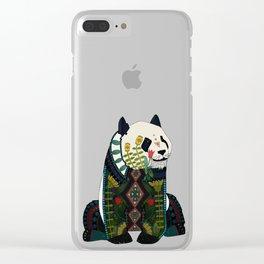 panda orange Clear iPhone Case