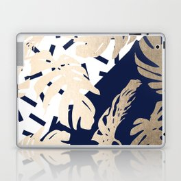 Simply Tropical Nautical Navy Memphis Palm Leaves Laptop & iPad Skin