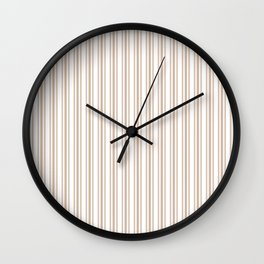 Trendy Large Beige Burlap French Mattress Ticking Double Stripes Wall Clock
