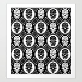 Skulls Calaveras Day of the Dead Dia de los Muertos Art Print