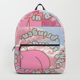 Een gat in de lucht springen. Backpack
