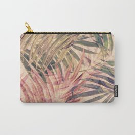 Palm Leaves in pink Carry-All Pouch