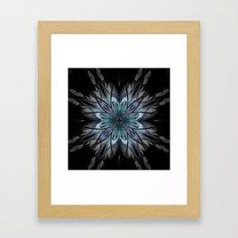 Crystal Blue Mandala Framed Art Print