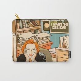 Dana Scully sit to the Fox Mulder's office Carry-All Pouch