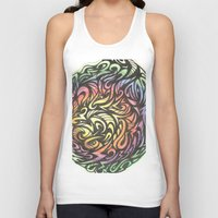 aztec Tank Tops featuring Aztec  by Kate Allison