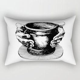 Potter's Ink Art Rectangular Pillow