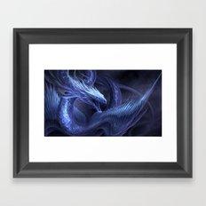 Blue Crystal Dragon Framed Art Print