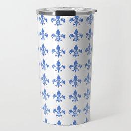 French Blue fleur di li Travel Mug