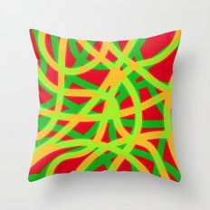 lively lines Throw Pillow