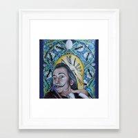 dali Framed Art Prints featuring Dali  by Magdalena Almero