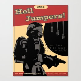 Hell Jumpers Canvas Print