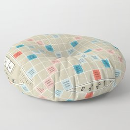 Scrabble Floor Pillow