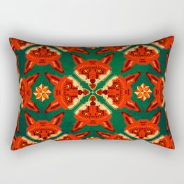 Fox Cross geometric pattern Rectangular Pillow