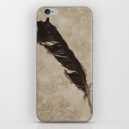 Antique Crow Feather iPhone Skin