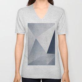 Indigo Minimal Geometry Unisex V-Neck