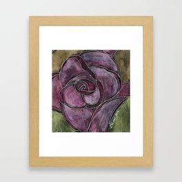 Twinkling Rose Framed Art Print