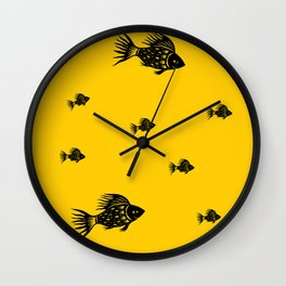 Sun Fish Wall Clock