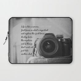 Life is Like a Camera Laptop Sleeve