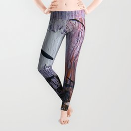 Magic [3]: a bold, interesting abstract, piece in gold, pink, black and white by Alyssa Hamilton Leggings