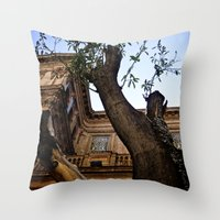 architect Throw Pillows featuring Mushroom Architect by Cassandra Evelyn