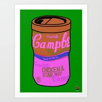 Art Print featuring Campbell's Remix Lime by Raheem Nelson