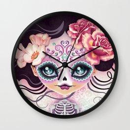 Camila Huesitos - Sugar Skull Wall Clock