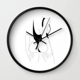 Sexy model drawing eroticism comicstyle comic Wall Clock
