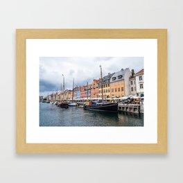 Nyhavn waterfront in Copenhagen Framed Art Print