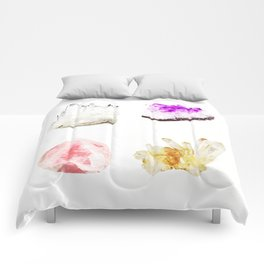 crystals watercolor Comforters