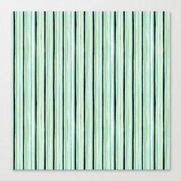 Watercolor Sea Glass Stripes Canvas Print