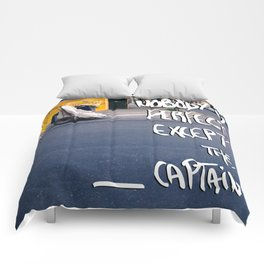 Nobody is perfect except the Captain Comforters