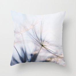 Macro dandelion Throw Pillow