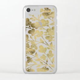 Cherry Blossoms – Gold Palette Clear iPhone Case