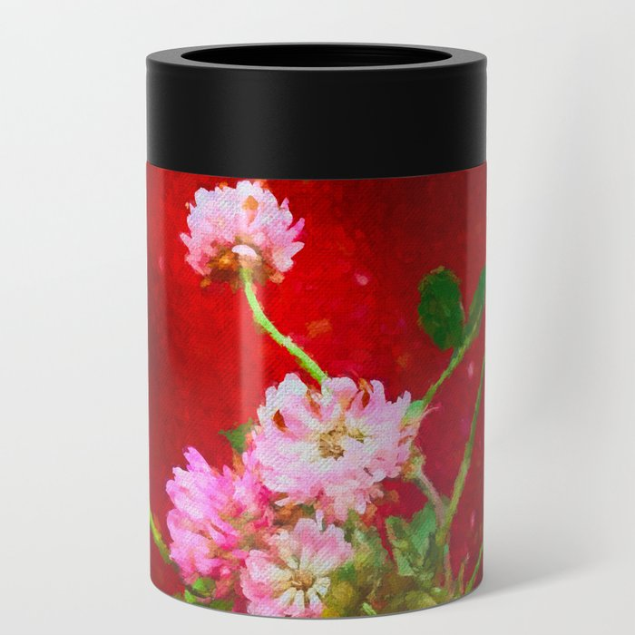 Girl holding wild clover flowers - by Brian Vegas Can Cooler