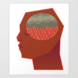 Brain Issues - Gray Days Art Print