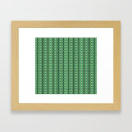 Bejewelled Emerald Framed Art Print