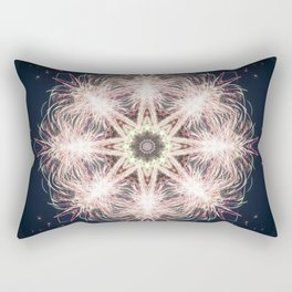 New year colorful sparkly fireworks mandala Rectangular Pillow